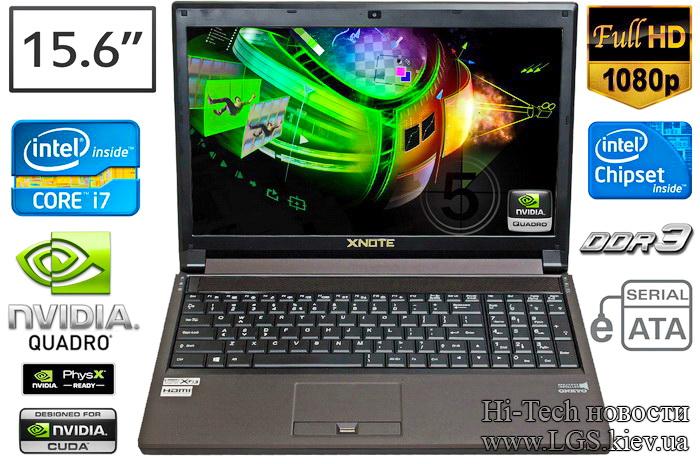 XNote P150SM-A современная модель ноутбука с GeForce GTX 870М